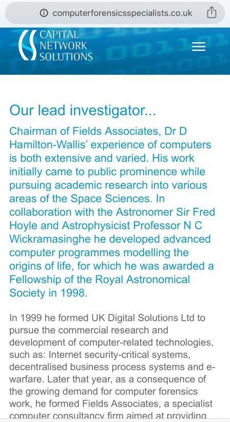 Hamilton Wallis Lead Investigator