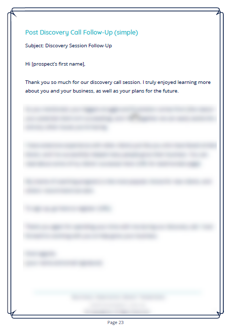 Business Operations Emails Template Sample | Natalie Campbell