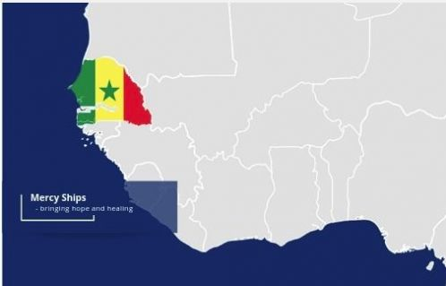 Mercy Ships is providing free surgeries in Senegal
