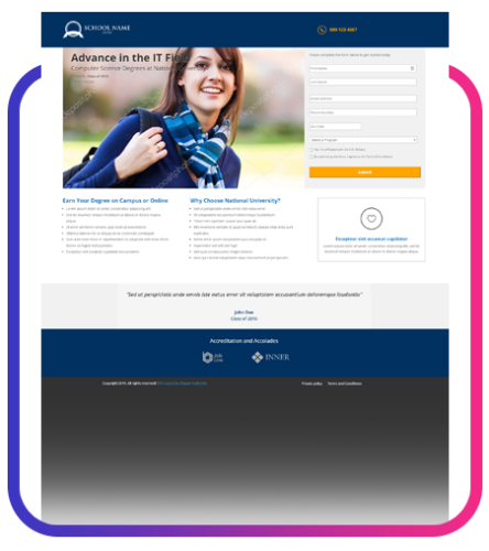 Education – lander template