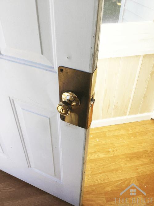 Original lock on door
