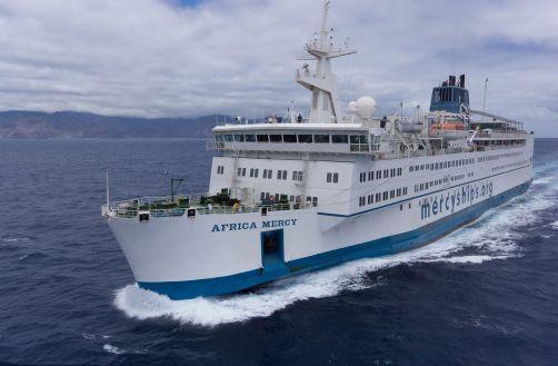 Mercy Ships operates the world's largest civilian hospital ship