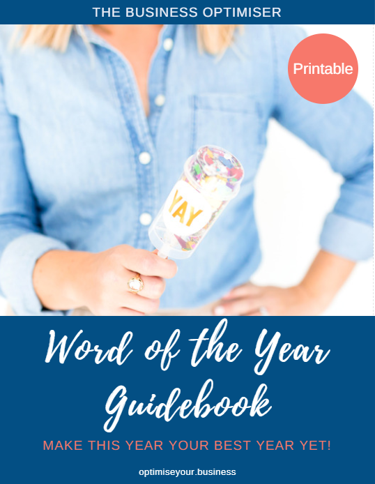The Business Optimiser Word of the Year Guidebook Coverpage