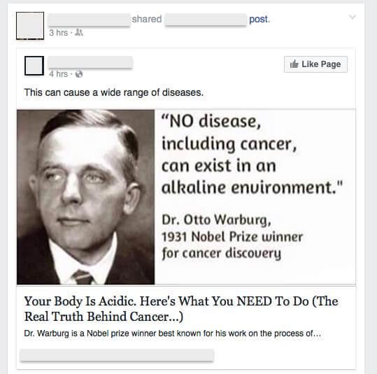 alkaline diet plan cancer