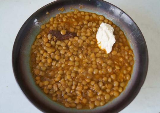 organic greek lentils with feta cheese