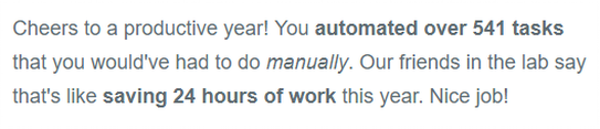 Save time with automated tasks