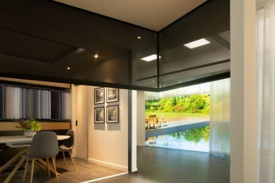 automated internal corner blinds from grants blinds