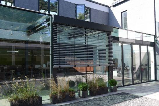 external shading solution blinds for minimal windows sliding doors