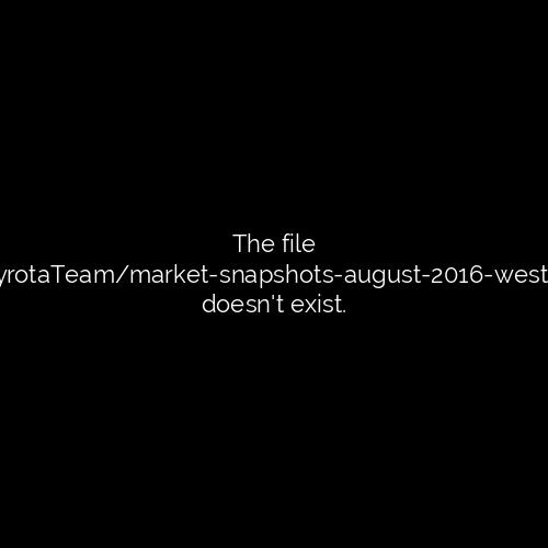 MARKET SNAPSHOTS - August 2016-western