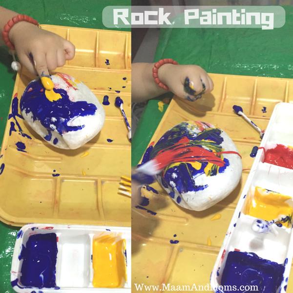 Tempera painting activity idea