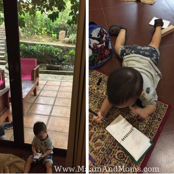 Writing comfortably at our cintai coritos villa