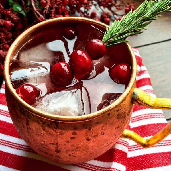 The Best Cranberry Moscow Mule