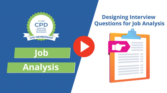 Designing Interview Questions for Job Analysis