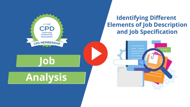 Identifying Different Elements of Job Description and Job Specification