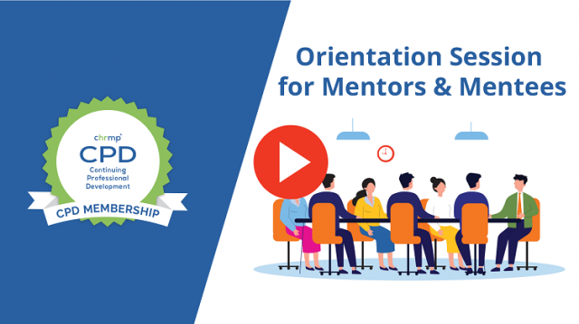 Orientation session for mentors and mentees