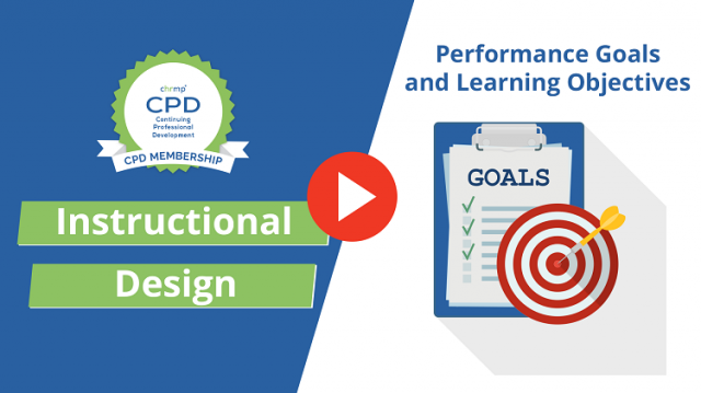Performance Goals and Learning Objectives