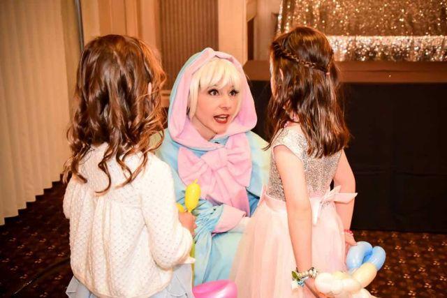 Cinder Princess' Godmother talking to Calgary girls