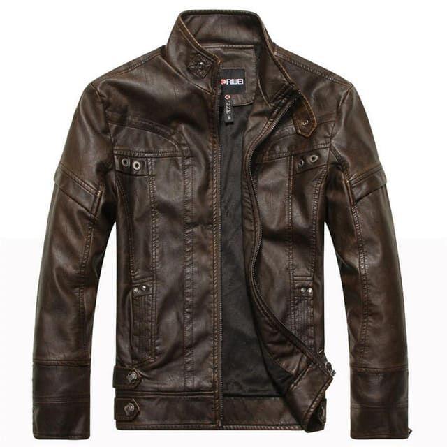 sample description for leather jacket