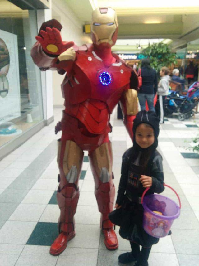 Calgary's Man of Iron with kids