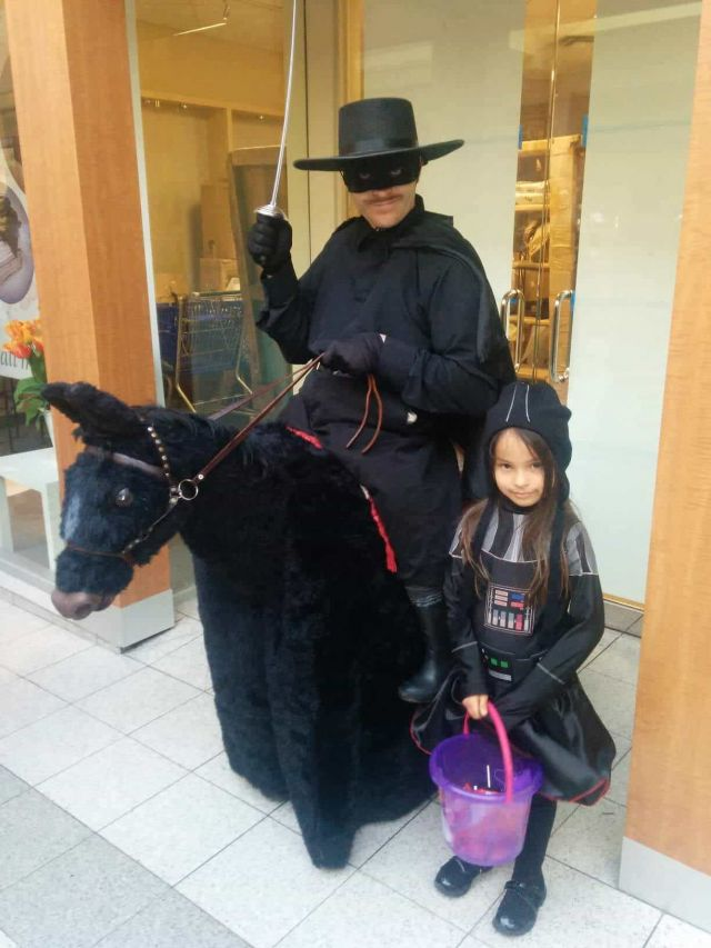 Kids spending Halloween with Zorro at Northland