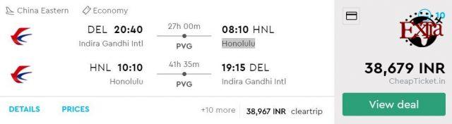 Delhi to Honolulu