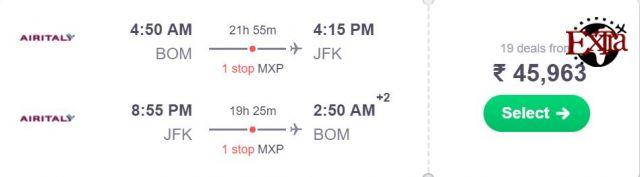 Mumbai to New York