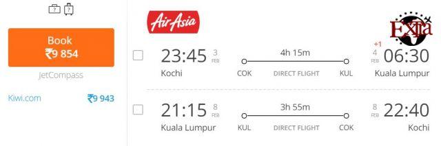 Kochi to Kuala Lumpur
