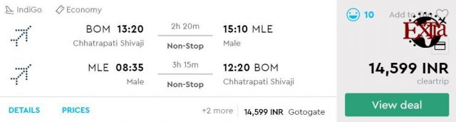 Mumbai to Male