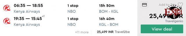 Mumbai to Kigali