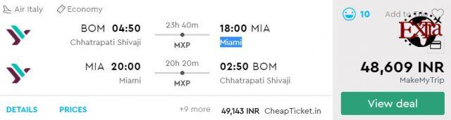 Mumbai to Miami