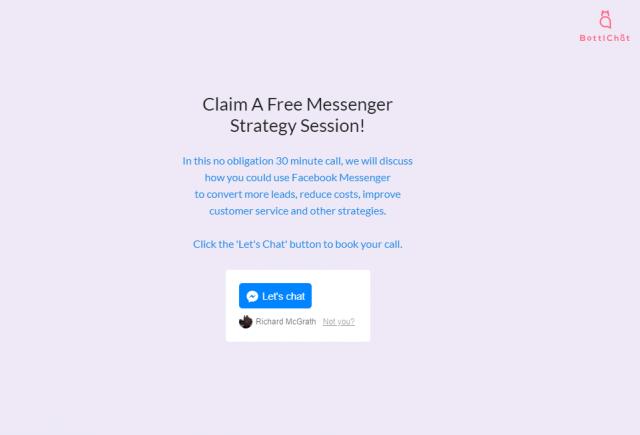 Messenger Chatbot Landing Page