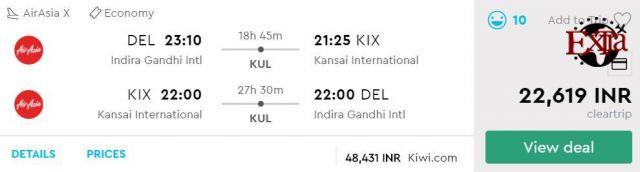 Delhi to Osaka