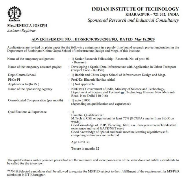 IIT Kharagpur job