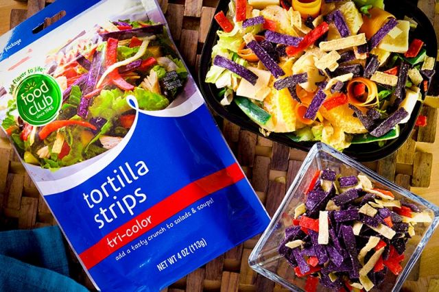 Tortilla Strips tri color foods club 113 gr 41249 cuadro