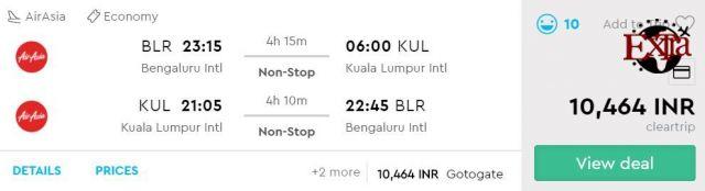 Bengaluru to Kuala Lumpur