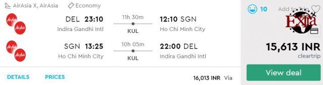Delhi to Ho Chi Minh City