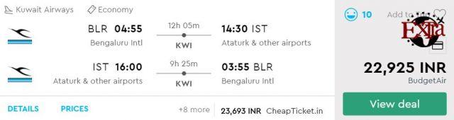 Bengaluru to Istanbul