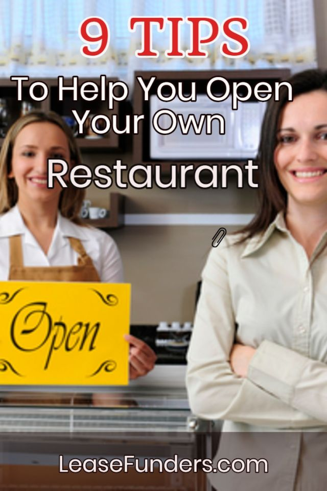 9 tips to help you open your own restaurant pin-min