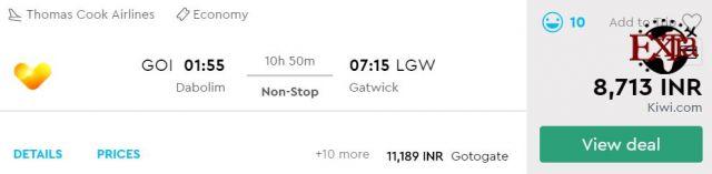 Goa to London