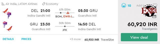 Delhi to Sao Paulo