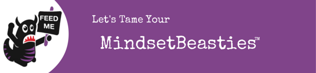 """Purple strip with Beastie Character and """"Tame Your MindsetBeasties"""" text"""