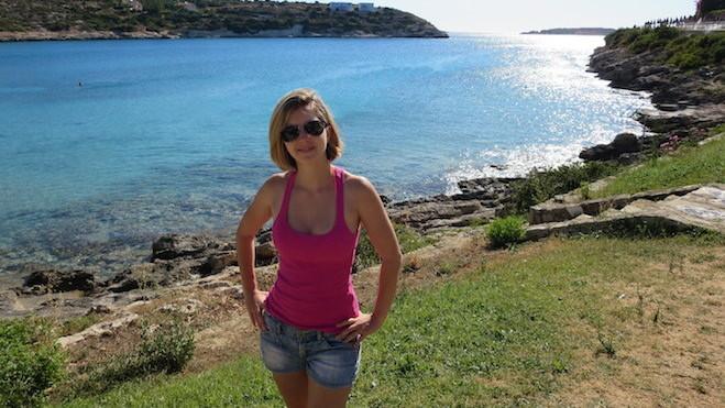 Hello from Loutraki beach in Crete, Greece.