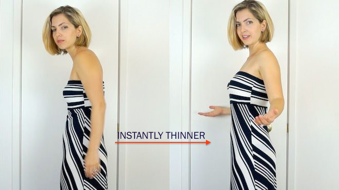 An often overlooked trick to instantly look thinner!