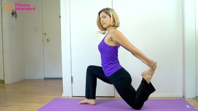 One of the three variations of the best hip flexor stretch.