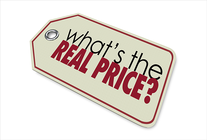 What's the real price copy