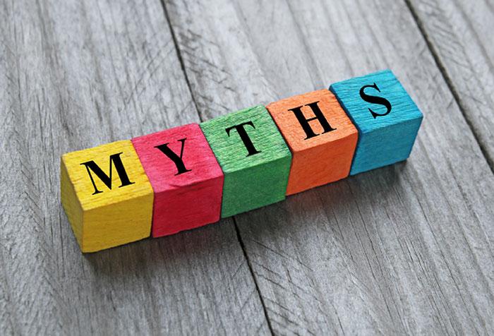 Image of blocks spelling 'myths'