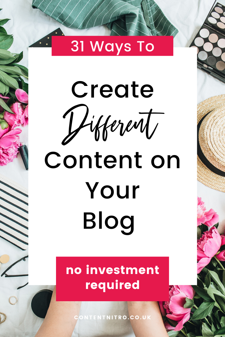 31 Different Types of Content for Your Blog [Free Checklist]