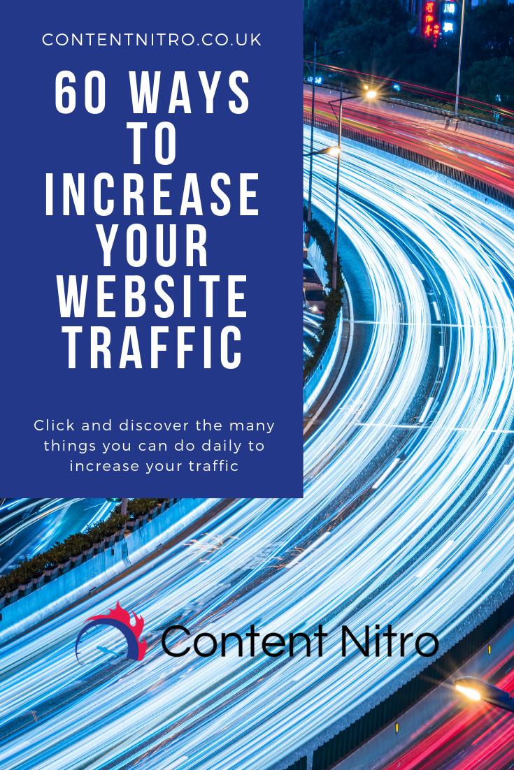 60 Ways To Increase Your Website Traffic via @saraharrow