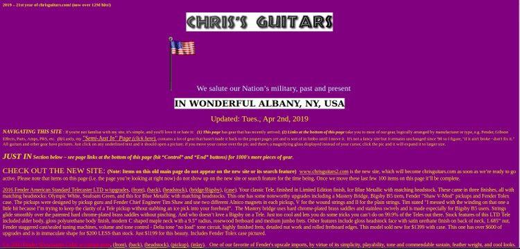 Chris'Guitars - straalt door lelijkheid