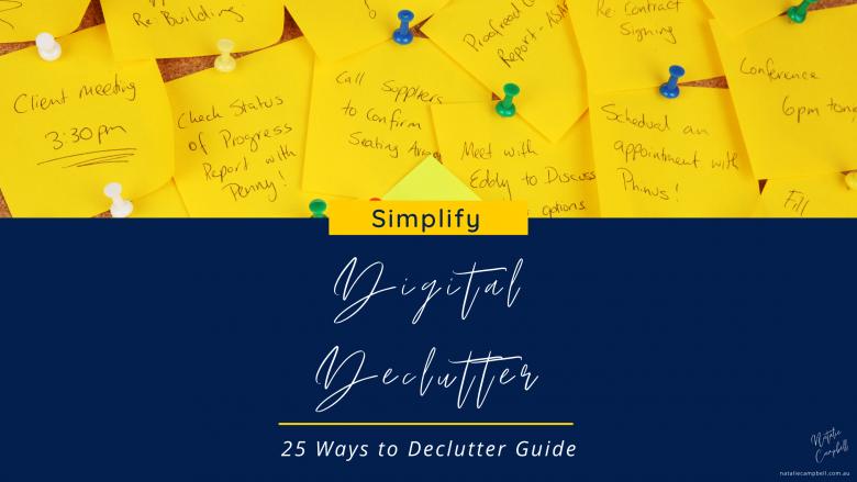 digital declutter blog image | Natalie Campbell